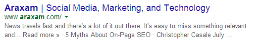 Page Title on SERP