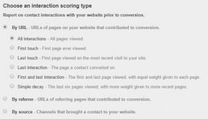 HubSpot Attribution Report URL Interaction Scoring