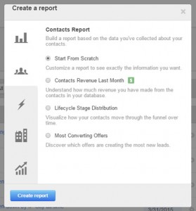 HubSpot Contacts Report 4 Types