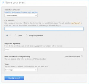 HubSpot Event Analysis Clicked Element