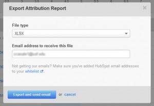 HubSpot E-mail Report